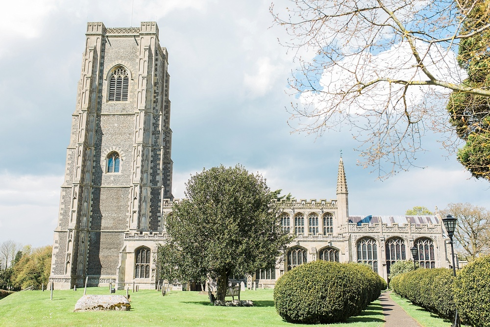 This is St. Peter and St. Paul's Church in Lavenham where William Gurnall was rector in the 1600s.