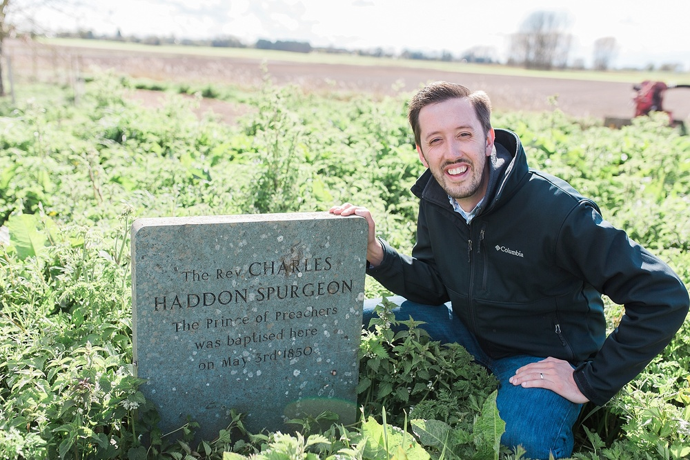 This was such a treat! It was a long walk through a working farm in the driving wind, but we finally made it to the spot where Spurgeon was baptized!