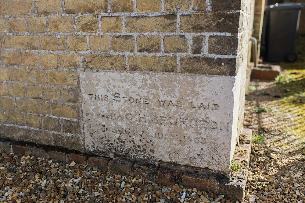 This stone was laid by Spurgeon!