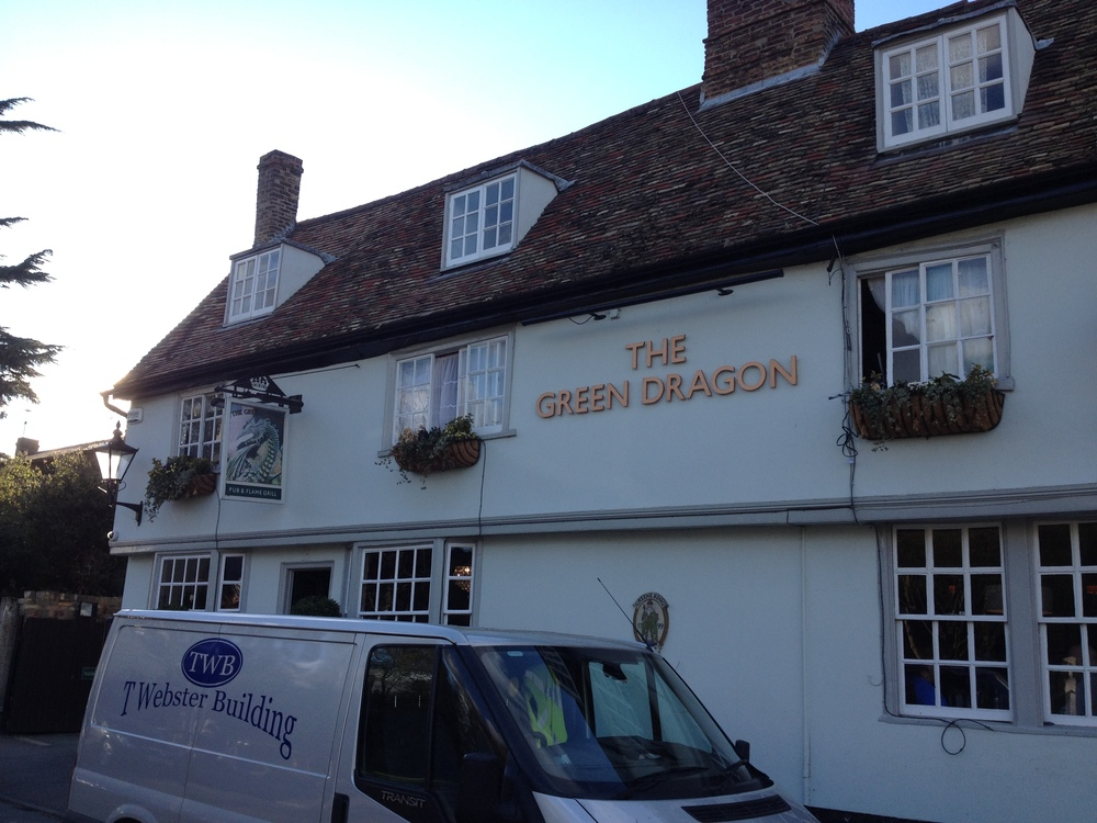 """We ended our tour at The Green Dragon in Cambridge. It seemed only fitting to eat at a pub named """"The Green Dragon""""! Also, they supposedly had one the """"Best Fish and Chips of 2015"""" award. Unfortunately I didn't get a picture of my plate!"""
