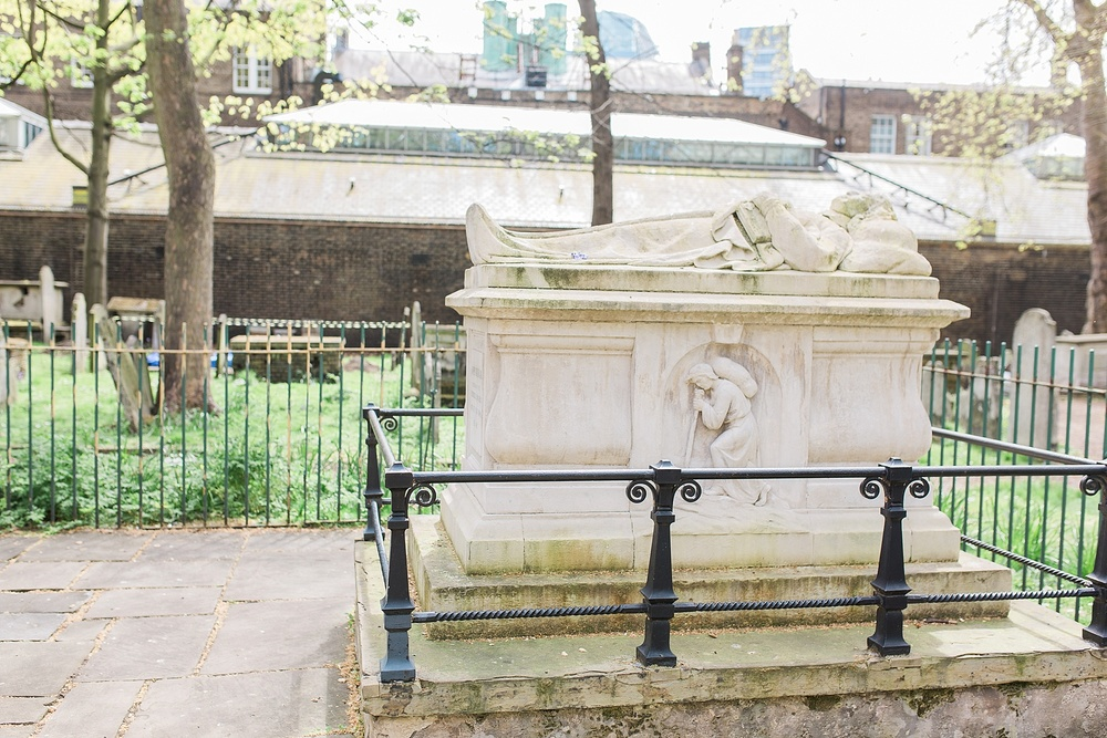 We were able to make it over to Bunhill fields where many Puritans were buried. This is John Bunyan's grave, which is in the most prominent place in the cemetery. John Owen was buried only about 15 feet away from Bunyan. Fitting given their mutual admiration for one another. I actually had the chance to visit Bunhill fields back in 2008 when I studied abroad and I wrote a post about it here. It's fun to reflect back on all God has taught me and done in my life since I wrote that post!