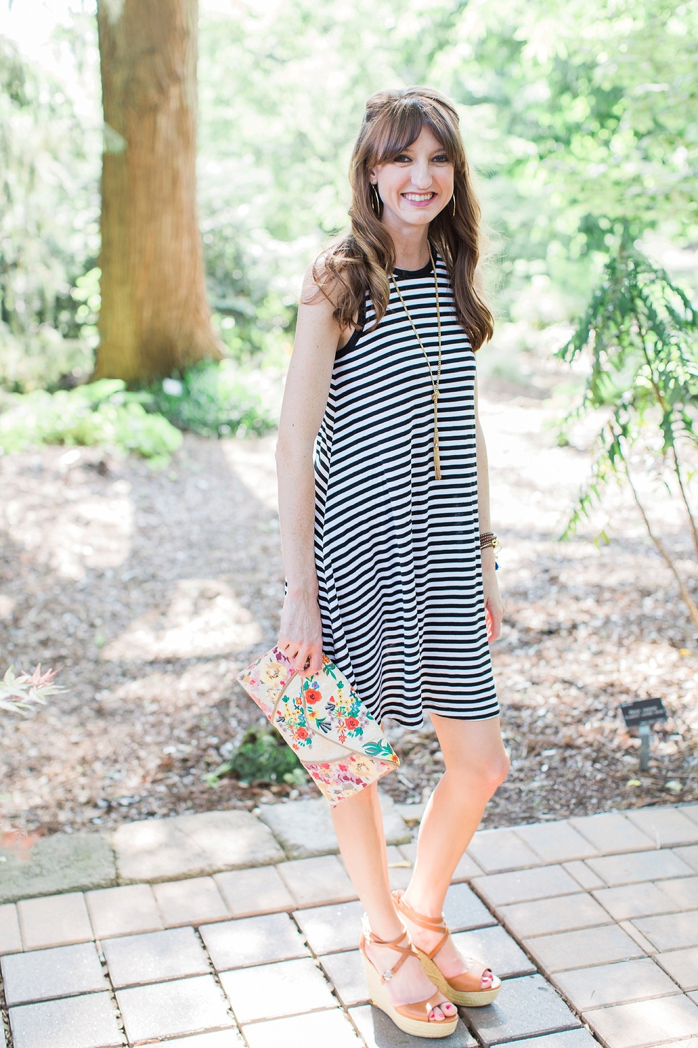 Striped Swing Dress Outfit