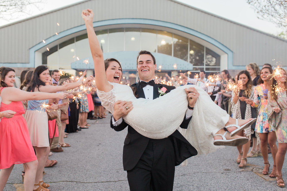 Sparkler Exit from Wedding