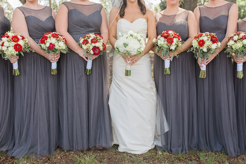 Gray and Red Wedding Colors