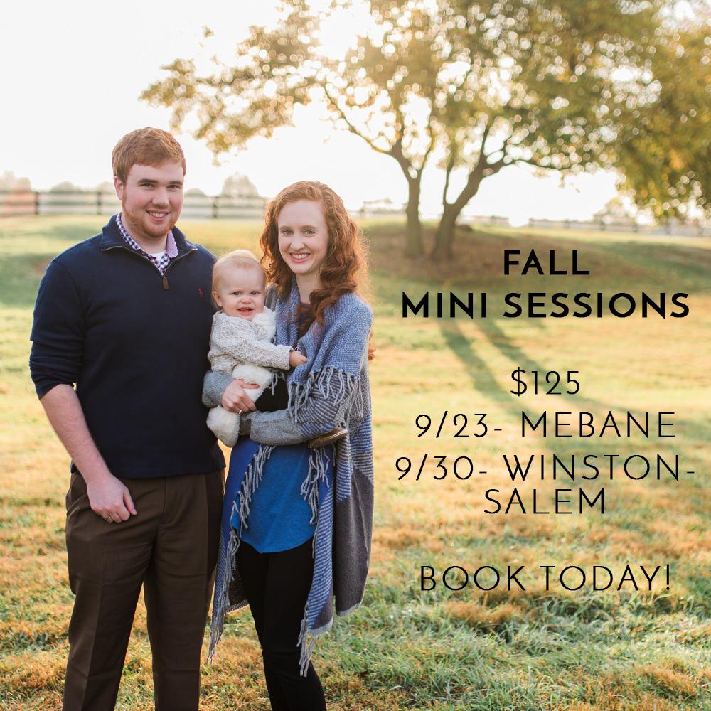 Fall Mini Sessions Winston Salem NC