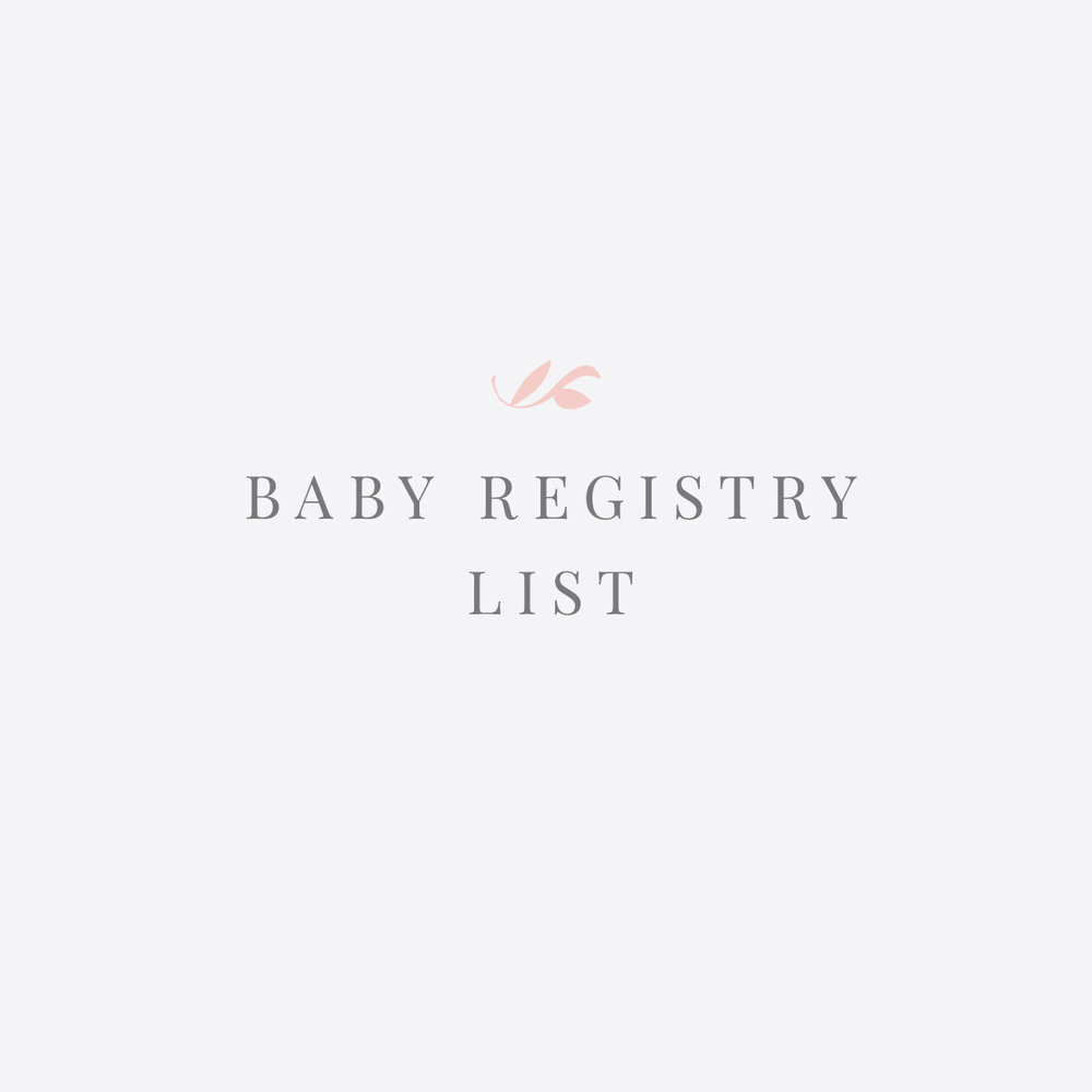 My Baby Registry List