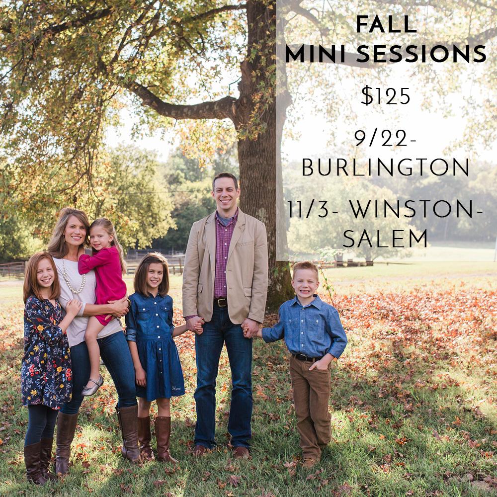 Winston Salem NC Fall Mini Sessions 2018