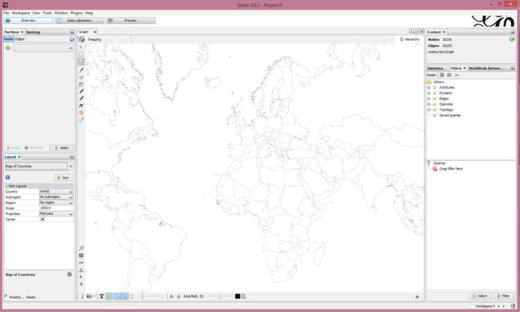Geolocation in Gephi with Twitter Data Tutorial  Jacob Groshek PhD