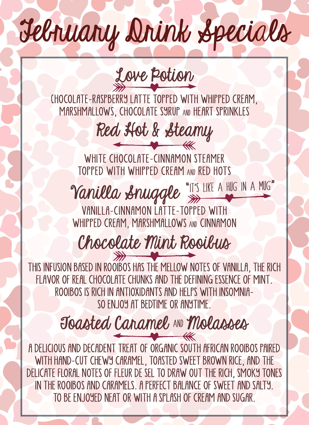 February Drink Specials!