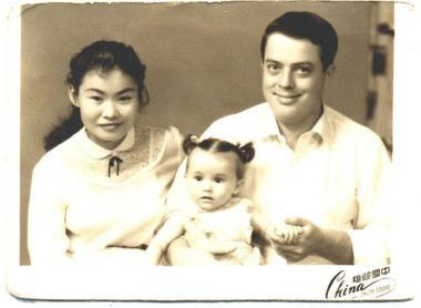 Mei Mei, a Daughter's Song, 1989, Dmae Roberts with parents, Chu-Yin and Bobby Roberts; photo courtesy the artist