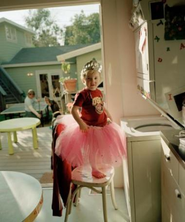 Oliver in a Tutu, 2004, c-print, 16 x 29 in; photo courtesy the artist