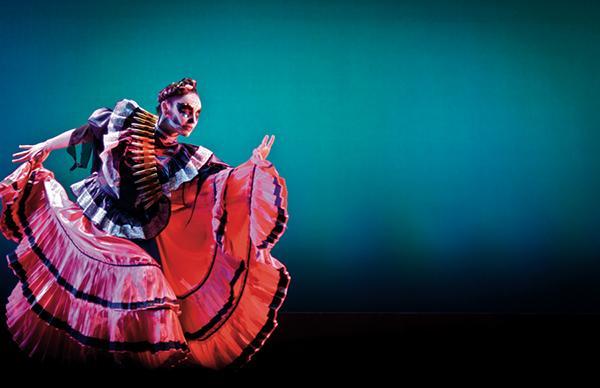 Corrido de Tillman, 2010, Mayra Enríquez dancing from Imperial Silence: Una Ópera Muerta/A Dead Opera in Four Acts; photo credit Gordon Huang