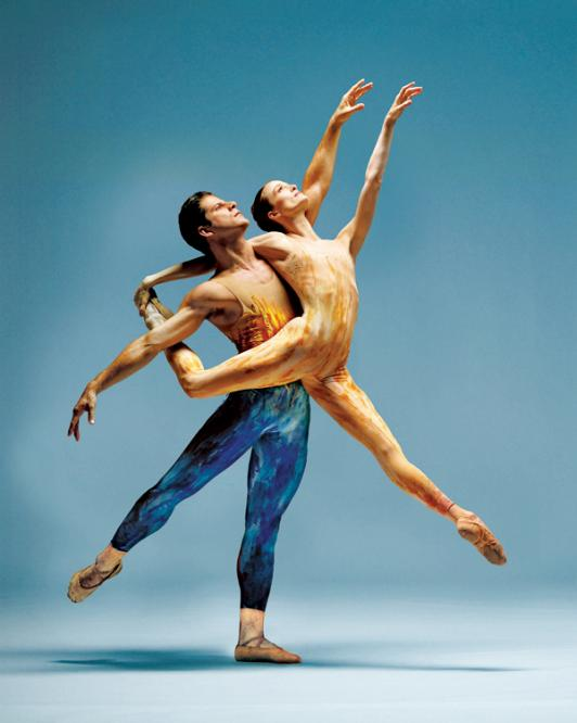 Meadow, 1999, Lar Lubovitch Dance Company with dancers Julie Kent and Marcelo Gomes; photo credit Joe McNally, courtesy of American Ballet Theatre