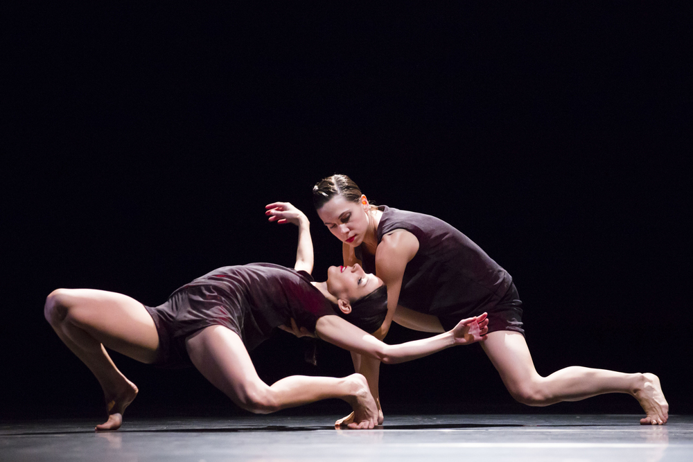 Hubbard Street Dancers Ana Lopez, left, and Jacqueline Burnett in Cloudless , 2013.