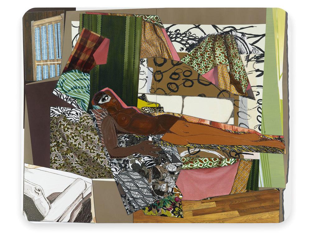 Marie: Femme noire nue couchée, 2014