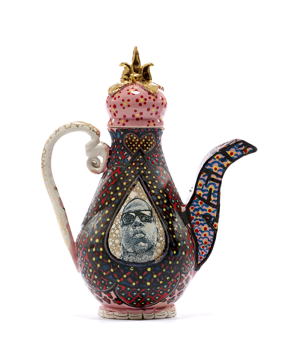 """The Notorious B.I.G Teapot"", Porcelain, 2016. Courtesy of the artist."