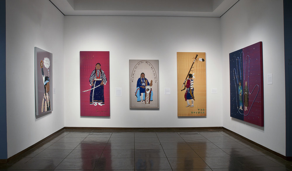 Women's Series, raw silk, canvas, wood, glass beads, wood beads, semi precious beads, Swarovski crystals, bone beads, 2011. Photo Credit: New Mexico Museum of Art