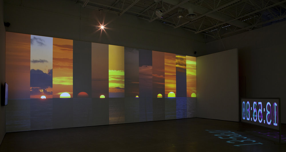 "Installation shot from, ""The Waning of Justice"", eight-channel video installation, 2015"