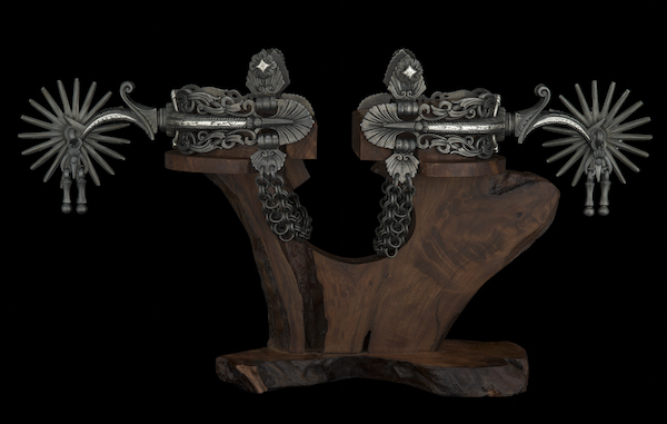 """Colonial style spurs"", 2014. Photo courtesy of National Cowboy and Western Heritage Museum."