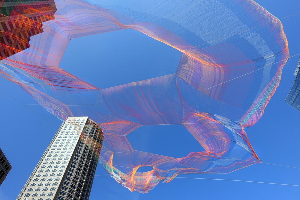 Welcome 2016 USA Fellows    Janet Echelman, USA Barr Fellow, Architecture & Design   As If It Were Already Here, Boston, MA, 2015. Photo: Melissa Henry