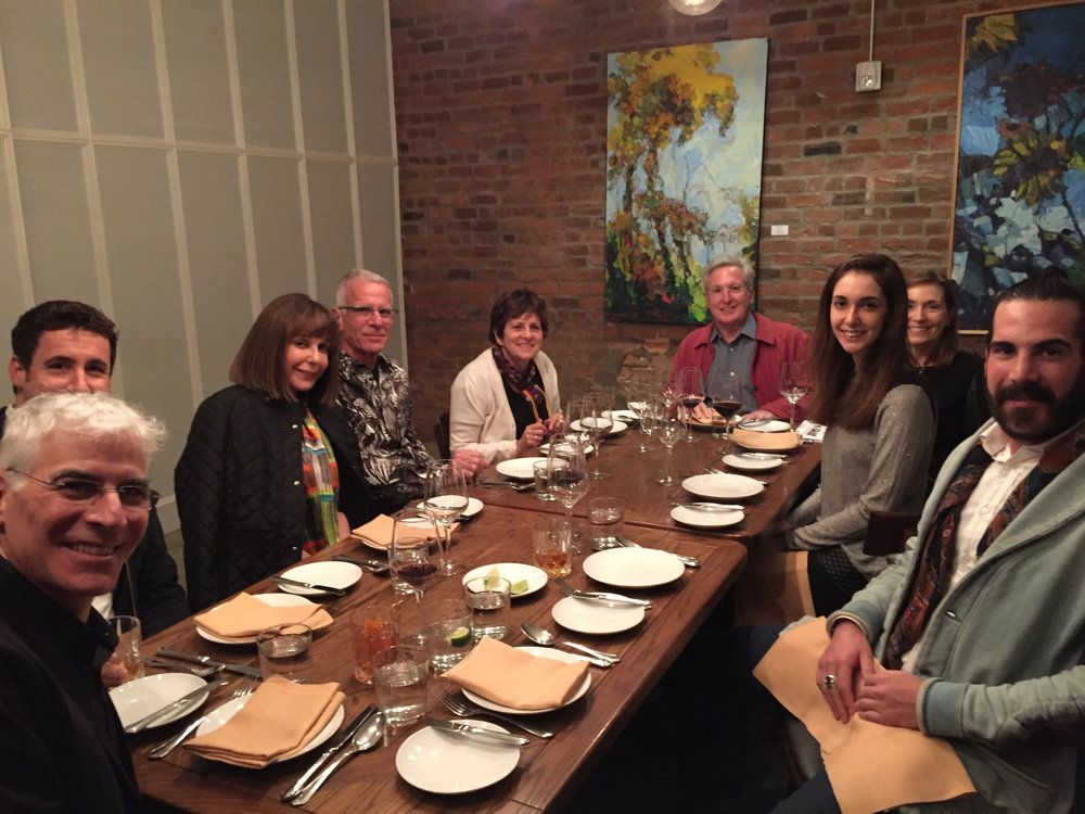 Members of the Ambassadors, Board, and Friends dine at Compere Lapin in New Orleans during the 2017 NLC Artists Crawl