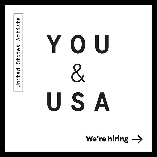 We have a few opportunities here at USA! We're looking for an Executive Assistant, a Social Media Coordinator, and Interns to join our growing team. Could it be you? . Visit our website at unitedstatesartists.org/connect for details. . Note: USA will not respond to any inquiries via Instagram. Please email all inquiries to the listed email in the posting.