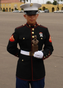 Tylan Kang   E-3 Out of Boot  Laguna Hills High School  U.S. Marine Corps 2012 - 03XX  Boot Camp Company Honorman