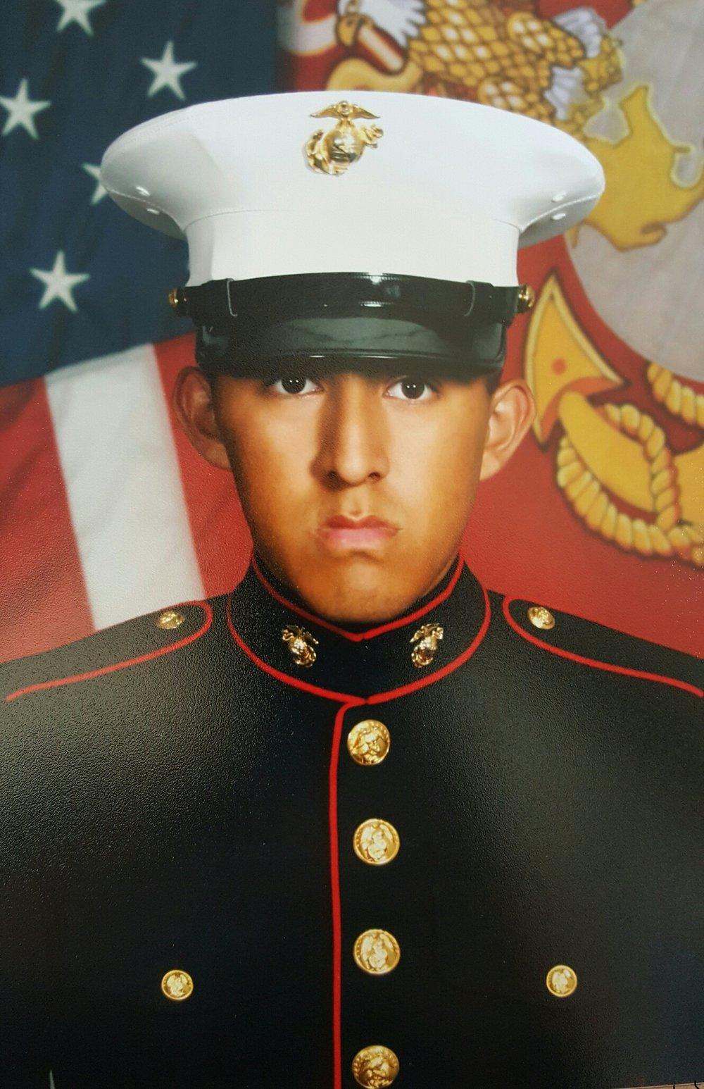 PFC Marcos Estecoc  Godinez High School  U.S. Marine Corps Fuel Artillery Cannoneer  2011-2015
