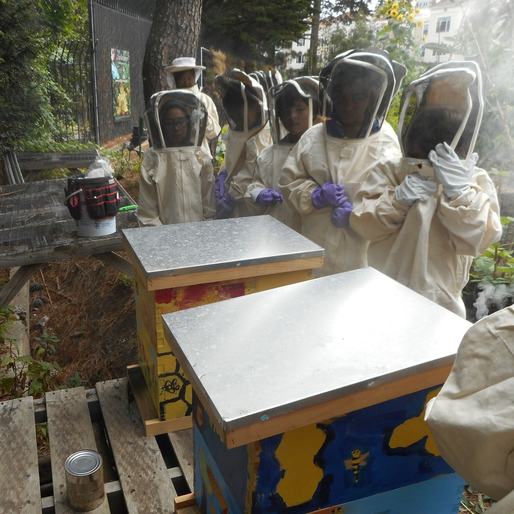 Planet Bee and Davidson Middle School Students.jpg