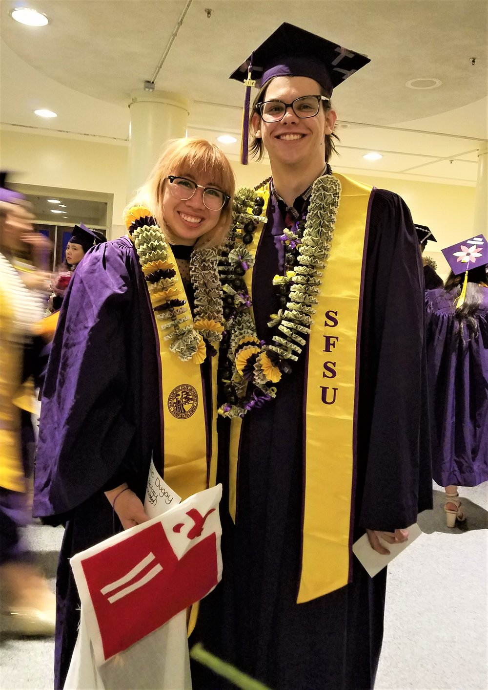 Joelle and Shane graduate from San Francisco State University