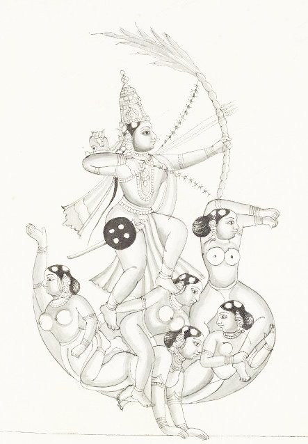 Kama, the God of Love, with his bowstring of bees