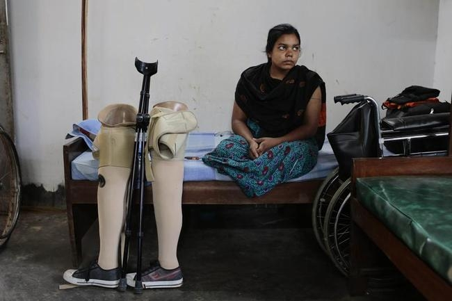 rehana, a garment worker, lost both her legs in a garment factory collapse. Photo Courtesy of India Times