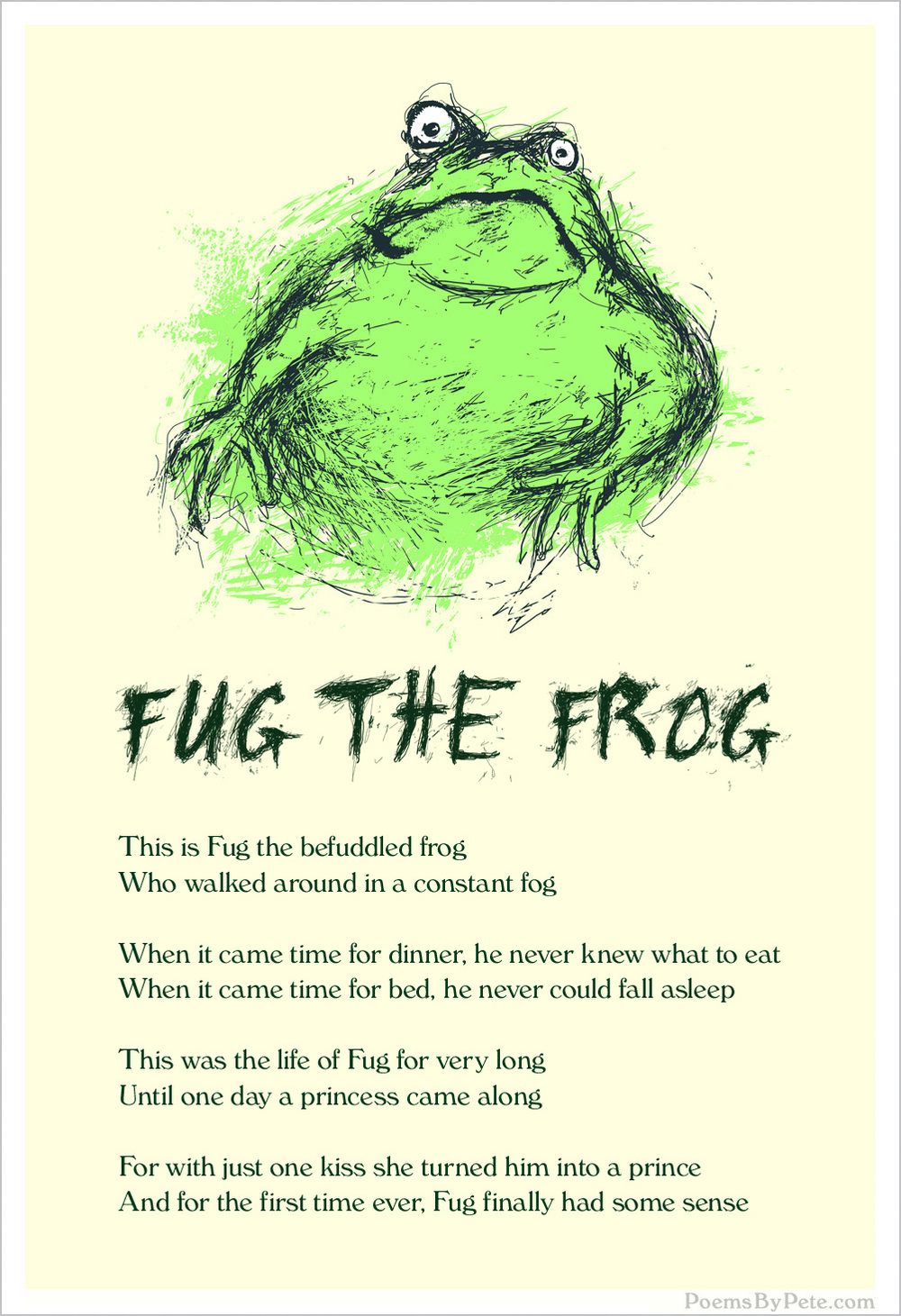 Cute Frog Ilration Drawing Kids Story Childrens Book