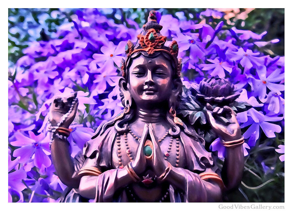 buddha-art-paintings-photos-statues-zen-garden-tao-art-nature-photography-fine-art-print-poster-buddhism-buddha-in-the-garden-purple-paradise-good-vibes-gallery-goodvibesgallery