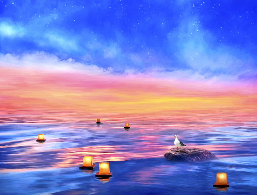 peaceful-landscape-paintings-posters-artwork-spiritual-meditation-yoga-art-beautiful-large-format-canvas-prints-zen-painter-of-light-thomas-kinkade-good-vibes-gallery-goodvibesgallery