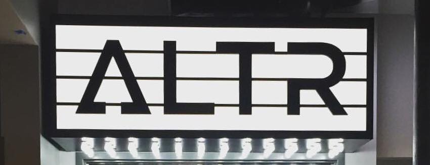 The ALTR Marquee that greets you as you walk into the workout room
