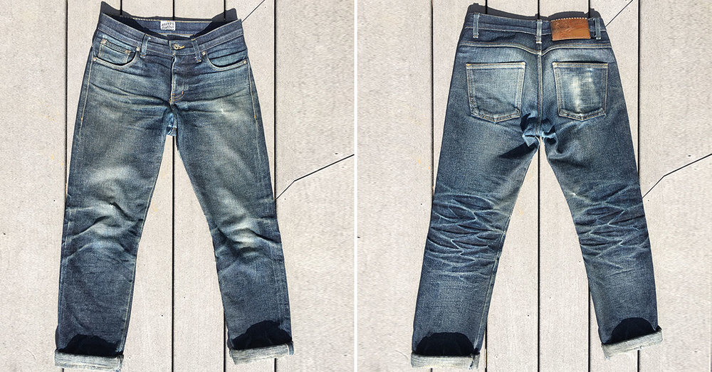 A wider cut, but a great looking jean none-the-less