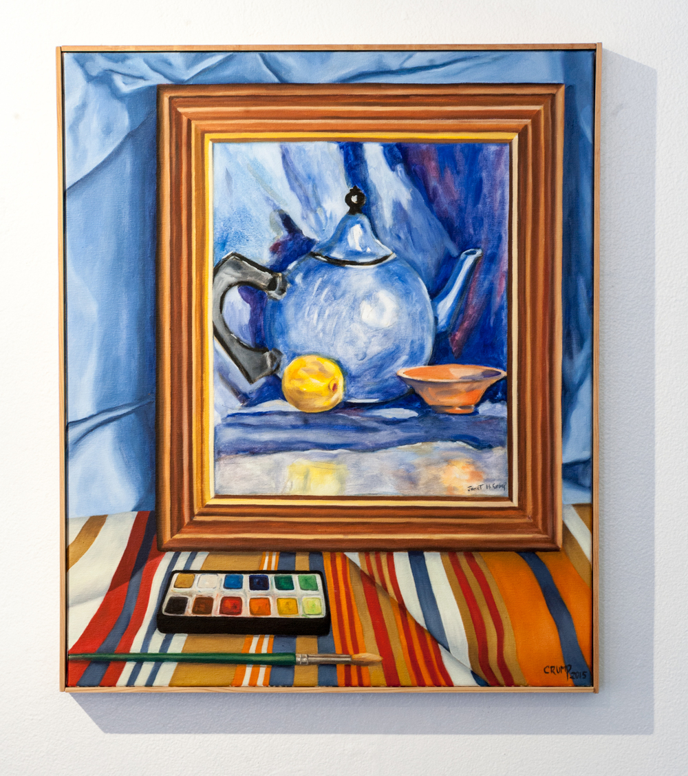 Carol Crump Bryner     Still Life with my Mother's Painting