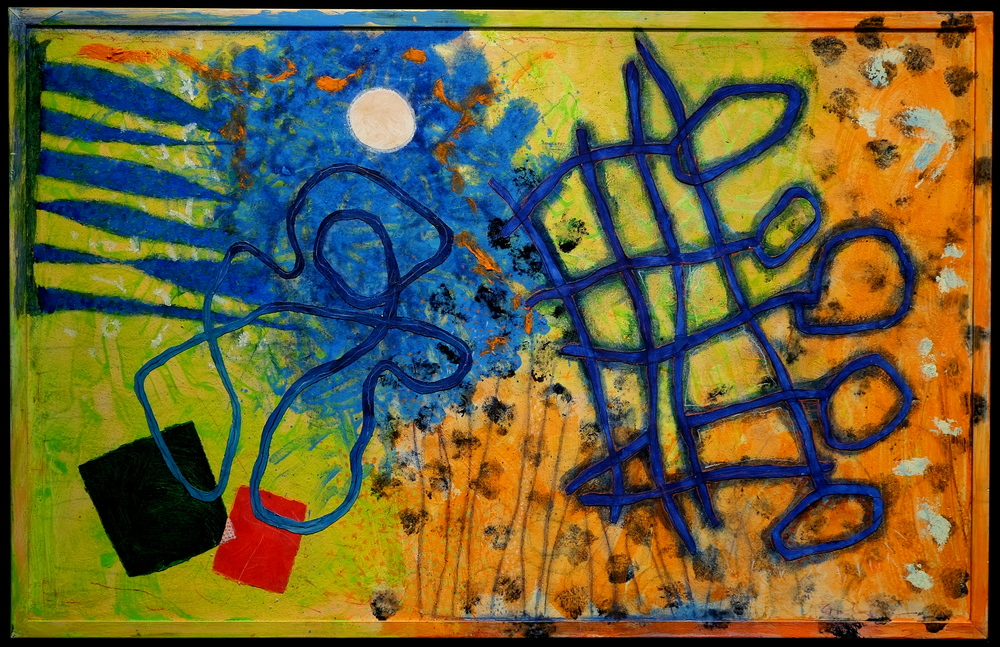 Keys to the meanings of colour         (2015; acrylic and mixed media on wood)