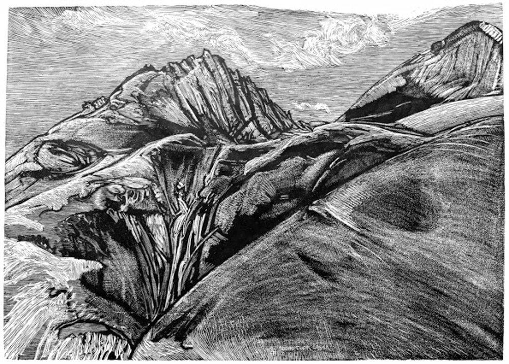 """Waterfall above Tupik Creek"" by Bill Brody"