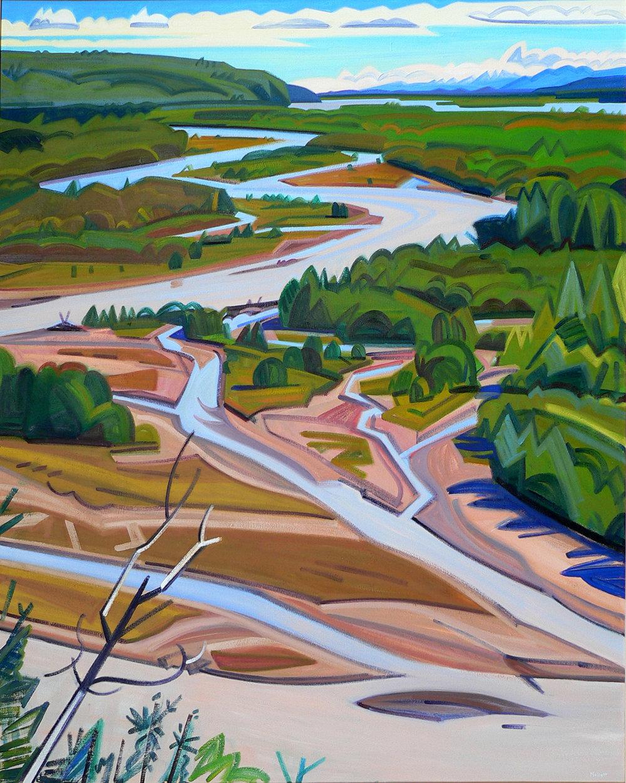 """""""Tanana River Vista"""" By David Mollett"""