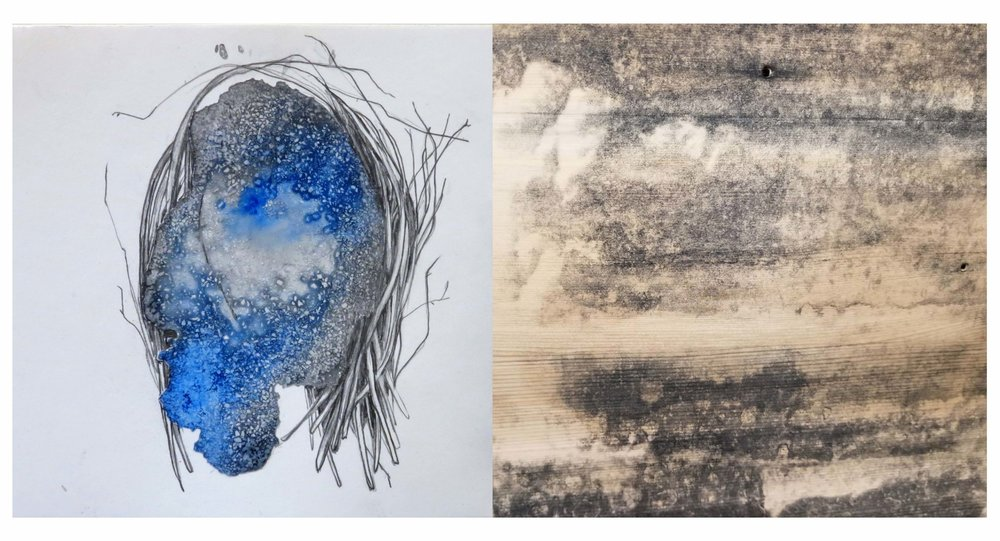 LEFT:   Melanie Lombard |    Portal  ,   2018  RIGHT:   Matthew Bower |    Mass  ,   2018