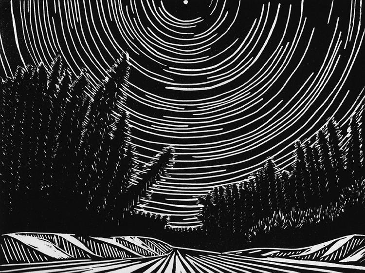 Ina Timling  | Starry Traverse , linocut