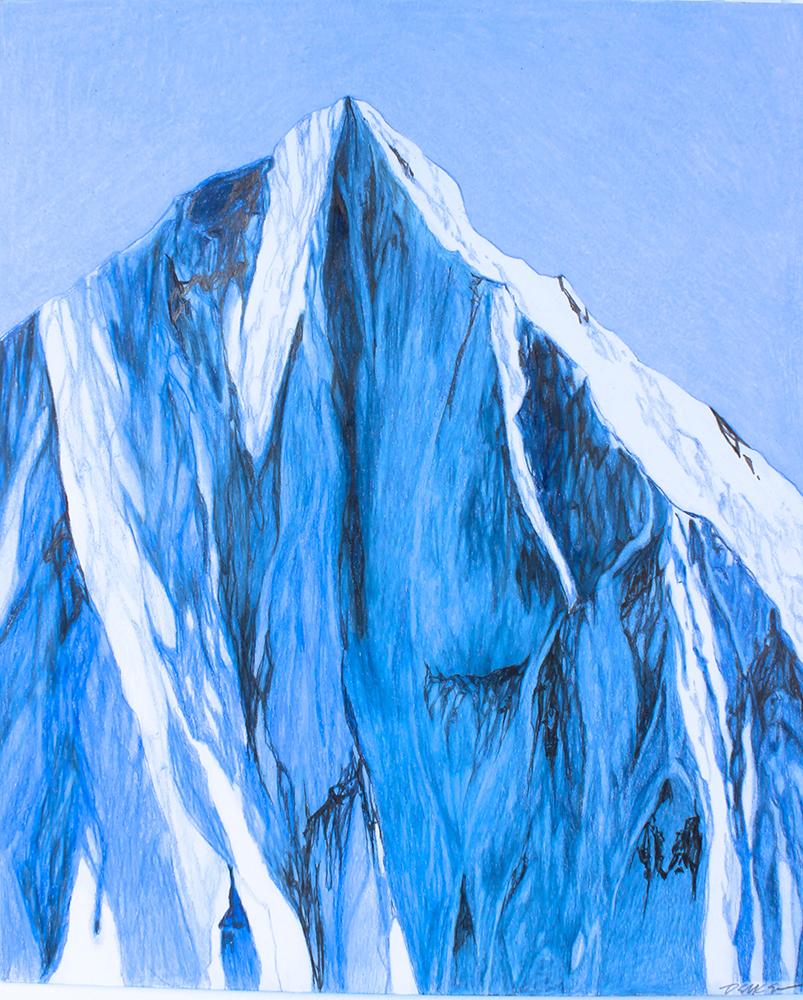 Don Decker,  Near Denali,  2019, Graphite and Prismacolor, 14 x 17 inches