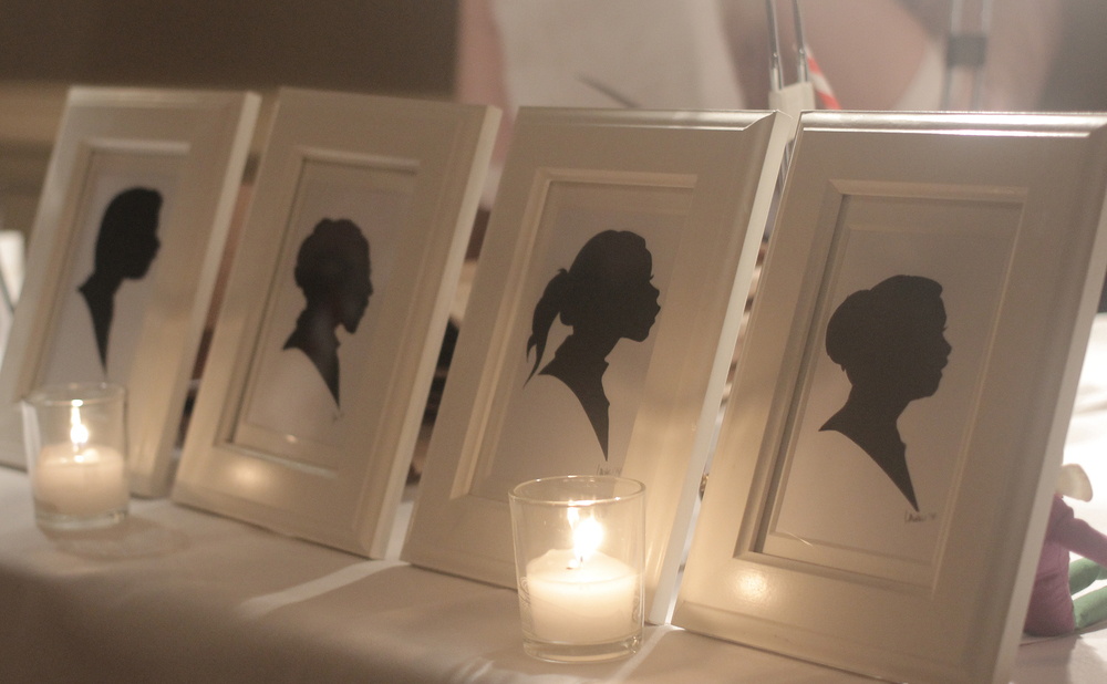 Shown here: Silhouette examples at a private event being held at the Mount Vernon Inn. Photo by Courtney Smith.