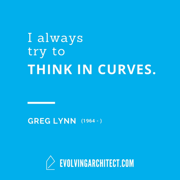 "Greg Lynn // ""I always try to think in curves."""
