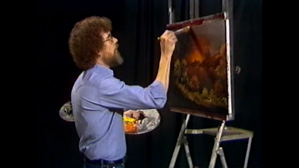 Bob Ross on 'The Joy of Painting'  Image Credit //  Polygon