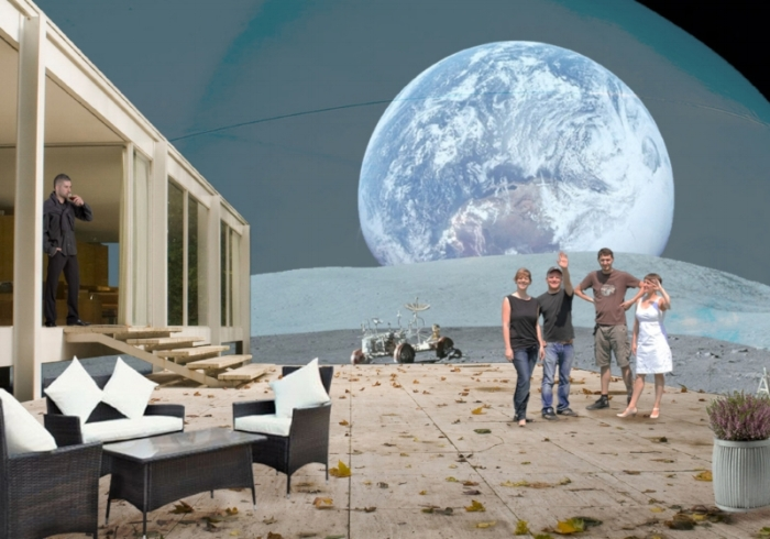 Arch + Ed // Life on the Moon - Collage