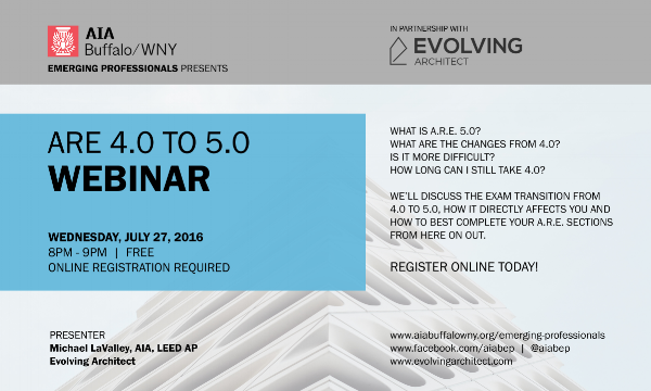 Evolving Architect / ARE 4.0 to 5.0 Webinar