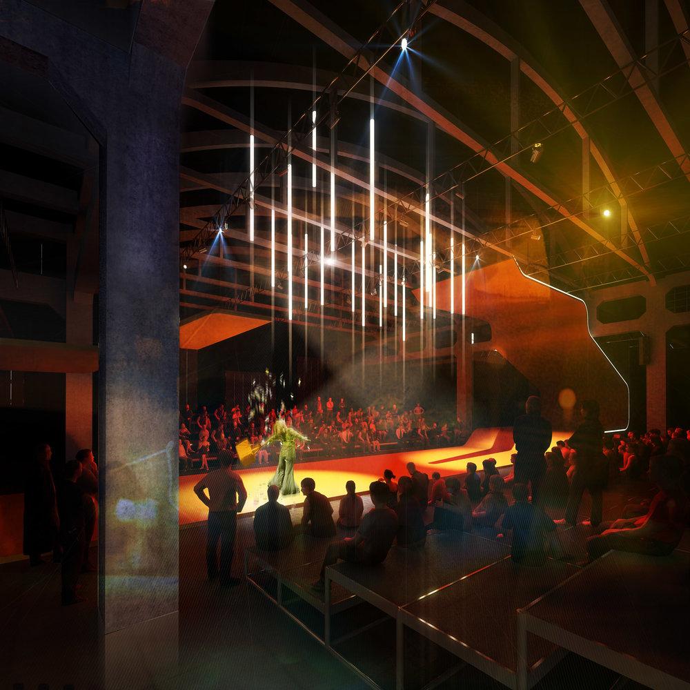 Rendering Wettbewerb Teatr Nowy, Warscha,u 2009
